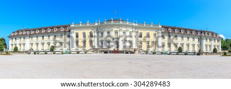 Panorama Ludwigsburg palace in Ludwigsburg, Baden-Wurttemberg, Germany - stock photo