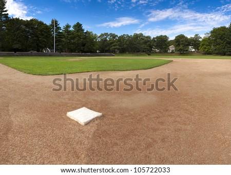 Panorama of a baseball field. - stock photo