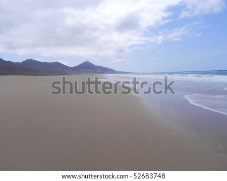 panorama of a beautiful beach - stock photo