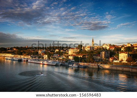 Panorama of Belgrade - stock photo