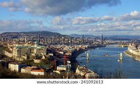 panorama of Budapest, Hungary - stock photo
