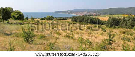 Panorama of bulgarian nature - stock photo