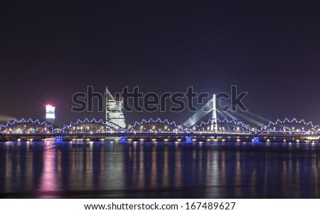 Panorama of Capital City of Latvia, Riga, Europe - stock photo