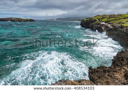 Panorama of Crystal Cove small island near Boracay island in the Philippines  - stock photo