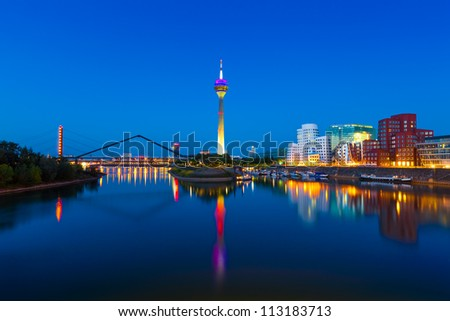 Panorama of Dusseldorf, Germany - stock photo