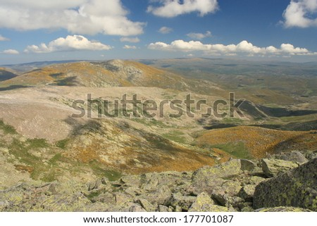 panorama of hills in Sierra de Gredos, Spain - stock photo