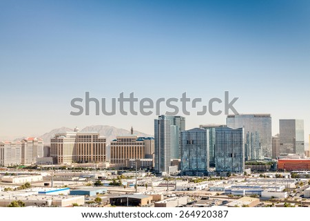 Panorama of Las Vegas, Nevada, USA - stock photo