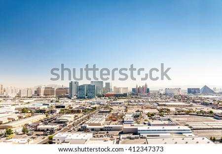 Panorama of Las Vegas, Nevada, USA - stock photo