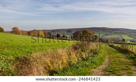 Panorama of Limburg region in the Netherlands - stock photo