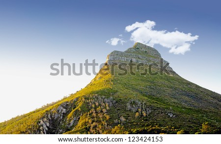 Panorama of Lions Head, Cape Town, South Africa - stock photo