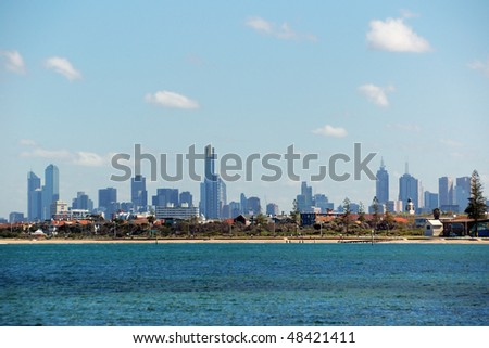 Panorama of Melbourne - stock photo