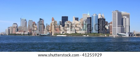 Panorama of New York - stock photo