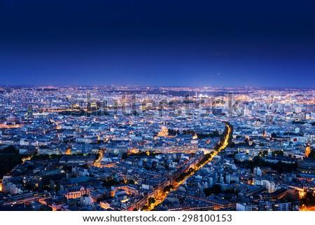 Panorama of Paris, France - stock photo