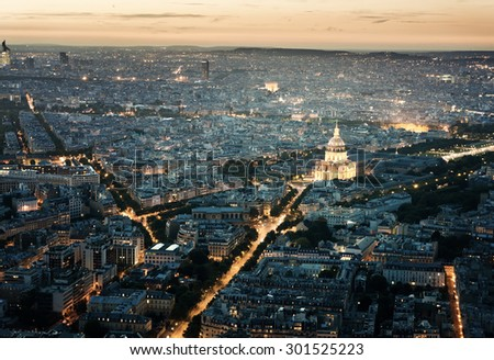 Panorama of Paris, France - stock photo