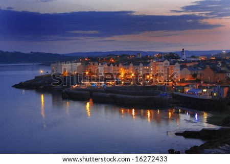 panorama of Plymouth, England, UK - stock photo