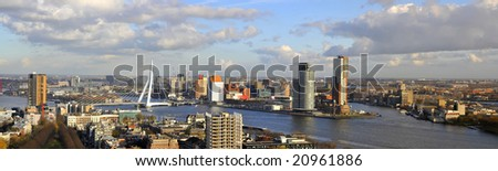 Panorama of Rotterdam - stock photo
