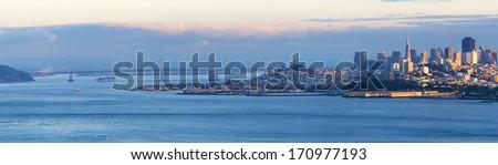 Panorama of San Francisco, California, USA - stock photo