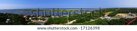 panorama of st. Augustine bay,Florida, US - stock photo