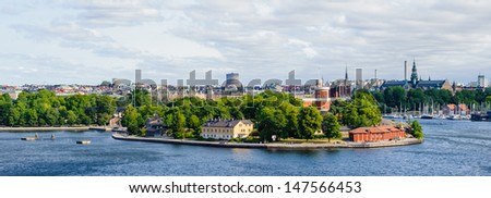Panorama of Stockholm city, Sweden - stock photo