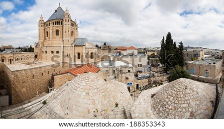 Panorama of the City of Jerusalem - Israel - stock photo