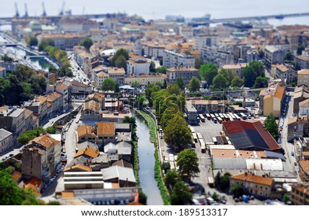 Panorama of the city of Rijeka - stock photo