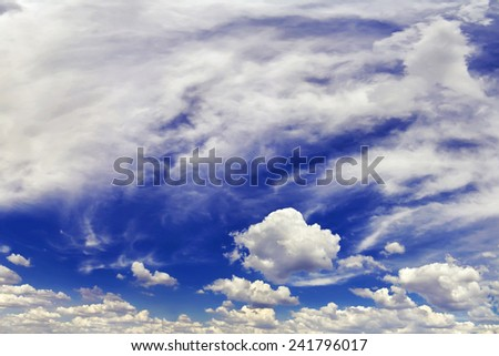 panorama of the daytime sky with clouds - stock photo