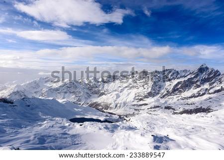 Panorama of Valtournenche - Aosta Valley - stock photo