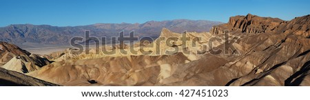Panorama of Zabriski Point Death Valley National Park, California - stock photo