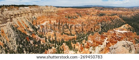 panorama photo of Bryce Canyon in Southern Utah - stock photo