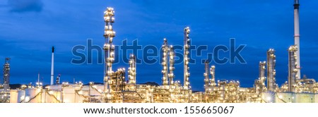 Panorama refinery complex - stock photo