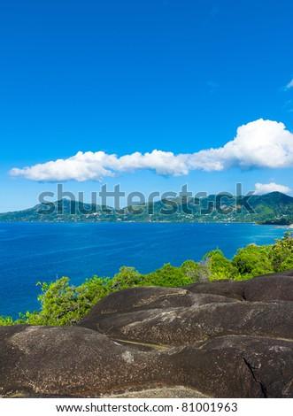 Panorama Shore Horizon - stock photo