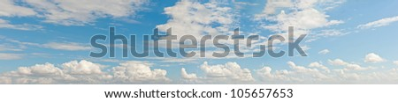 Panorama sky and cloud. Panoramic composition in high resolution. - stock photo
