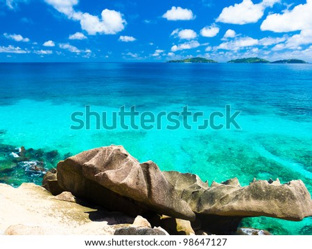 Panorama Summertime Shore - stock photo
