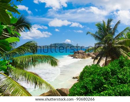 Panorama Tranquility Sea - stock photo