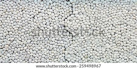 Panorama White gravel tile on the modern hotel. - stock photo