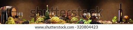 Panorama wine bar. - stock photo