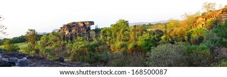 Panoramic Australian landscape -  Kakadu National Park, australia - stock photo