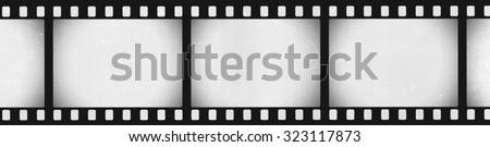 Panoramic Grunge Film Strip Negative Background - stock photo