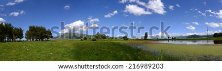 Panoramic landscape - stock photo