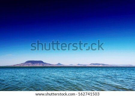 Panoramic landscape at Lake Balaton, Hungary - stock photo