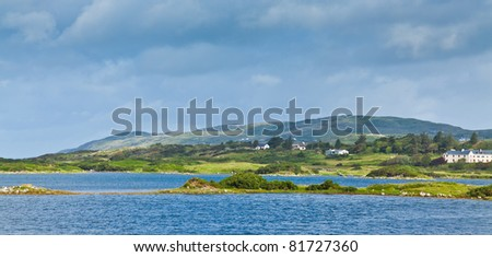 Panoramic landscape of Ardmore Bay, County Galway, Ireland. - stock photo