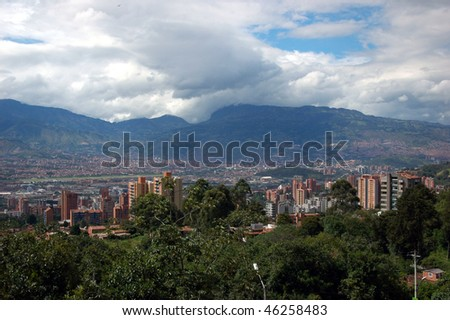 Panoramic of Medellin, Colombia - stock photo