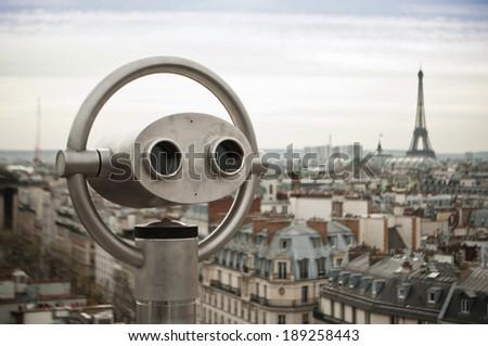 panoramic of Paris - stock photo