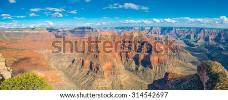 Panoramic of Point Sublime, Grand Canyon National Park, AZ - stock photo