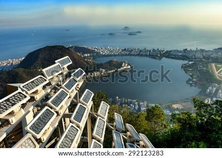 Panoramic of Rio de Janeiro city, Brazil . - stock photo
