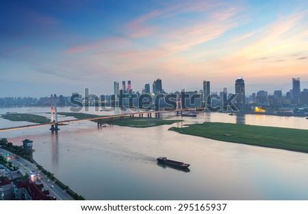Panoramic picture of China nanchang - stock photo