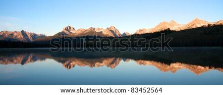 Panoramic Sawtooth Mountains - stock photo