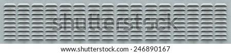 Panoramic Ventilation Grill - stock photo