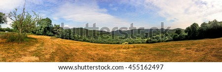 Panoramic view in Alsace - stock photo