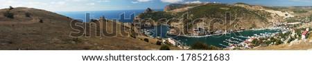 Panoramic view of Balaklava Bay, Crimea, Ukraine  - stock photo
